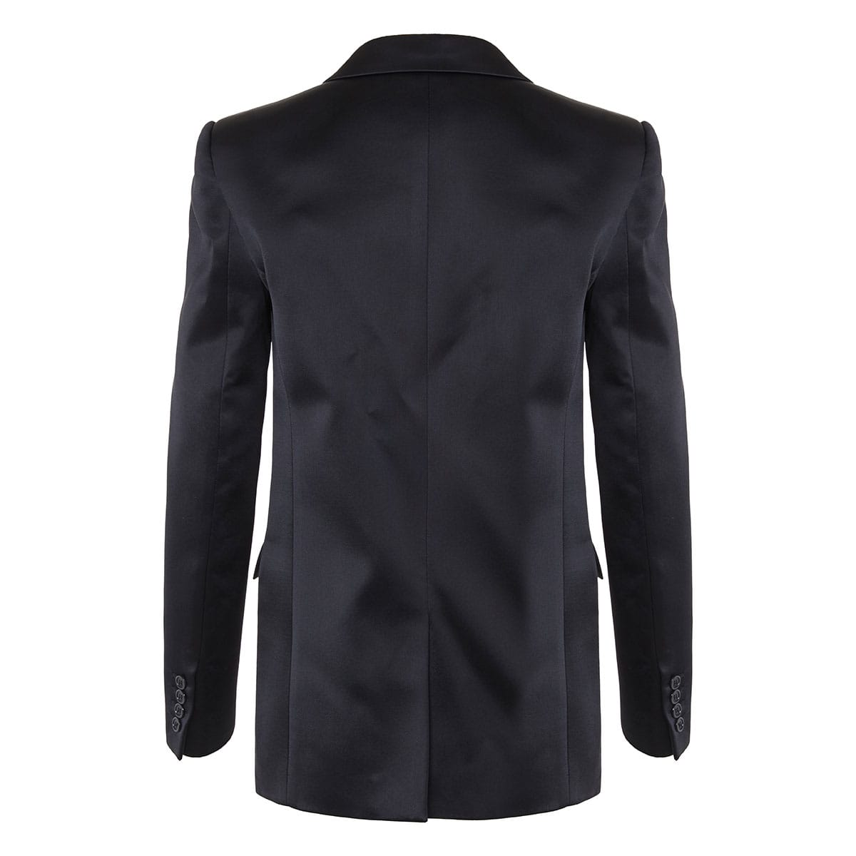Single-breasted satin blazer