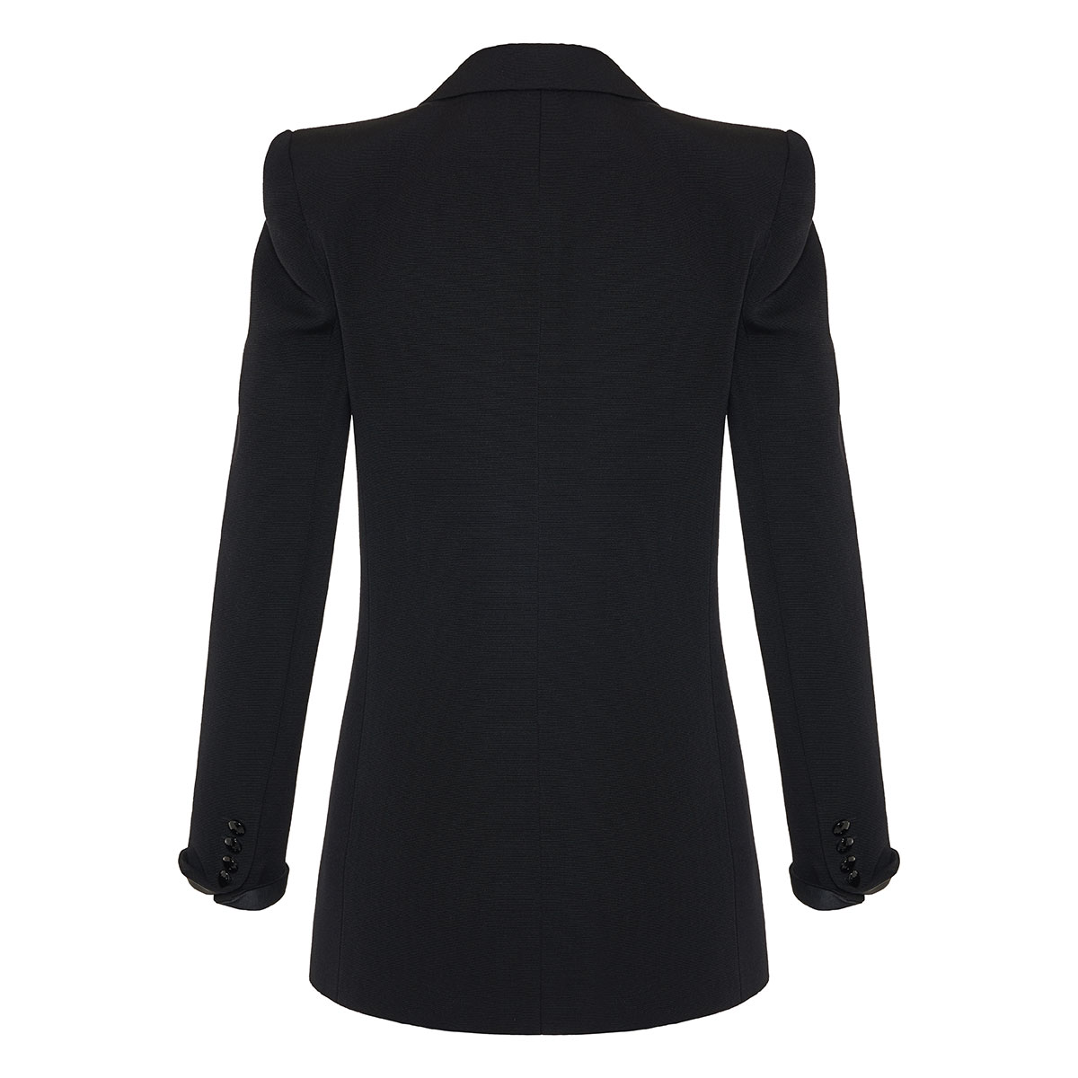 Wide-shouldered wool blazer