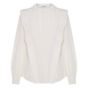 Shoulder-panel silk shirt