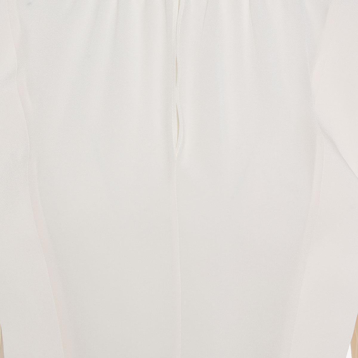 Shoulder-panel silk shirt