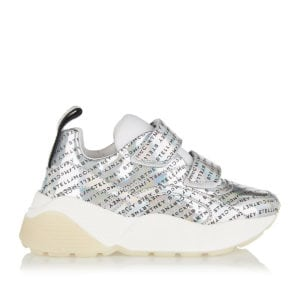 Eclypse metallic logo sneakers
