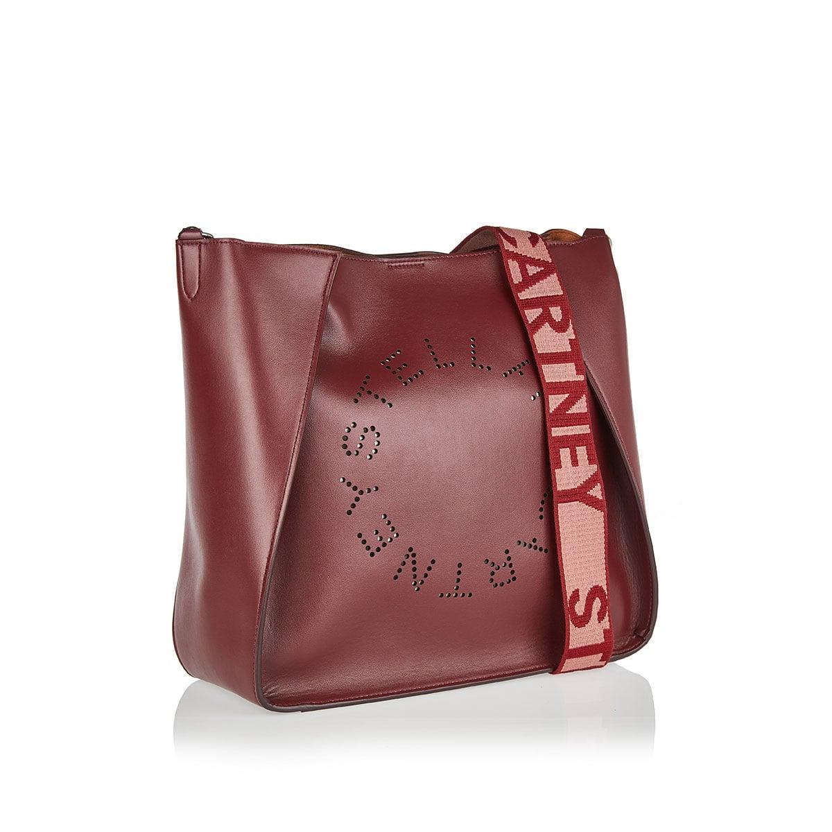 Faux leather logo shoulder bag