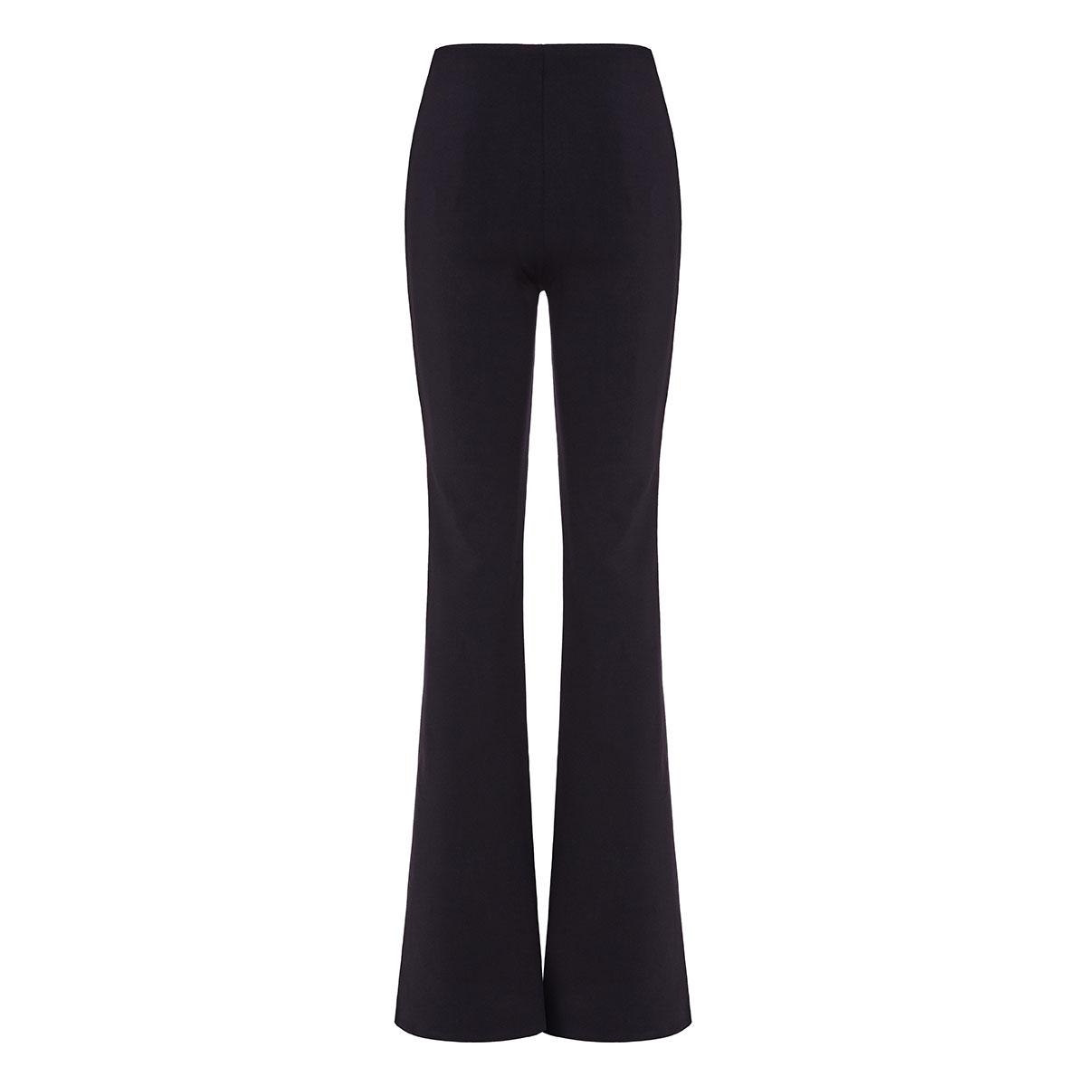 Delon flared neoprene trousers