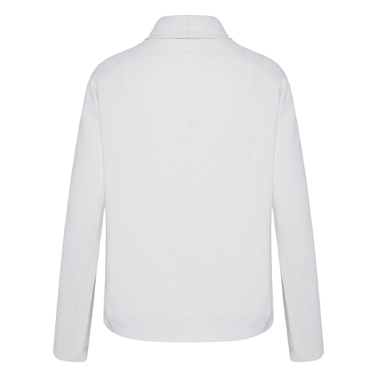 Bora funnel-neck cady blouse