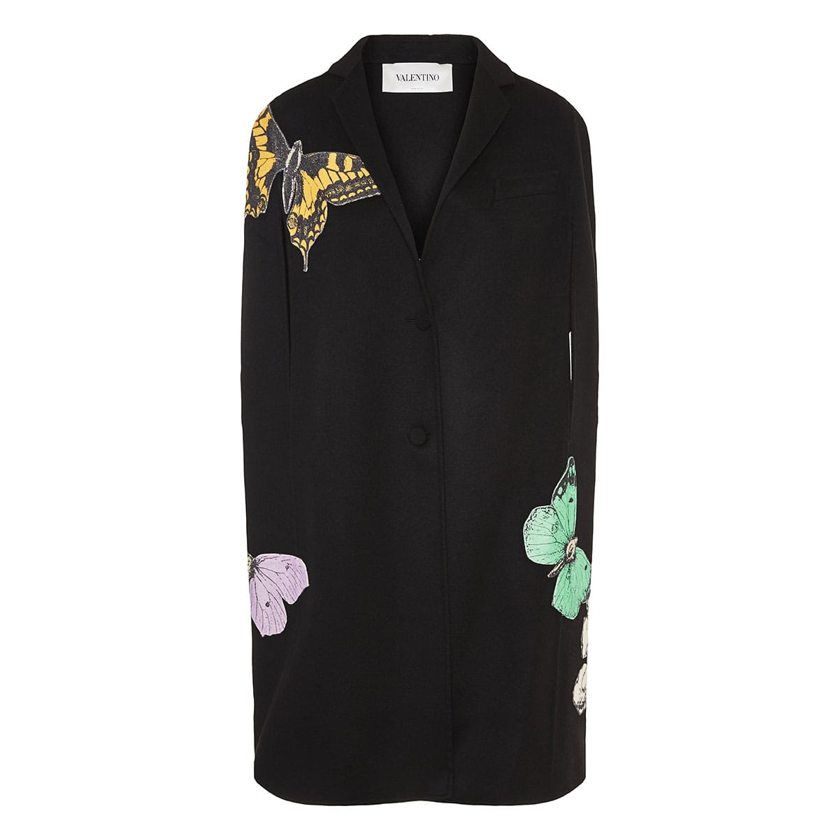 x Undercover embroidered wool cape