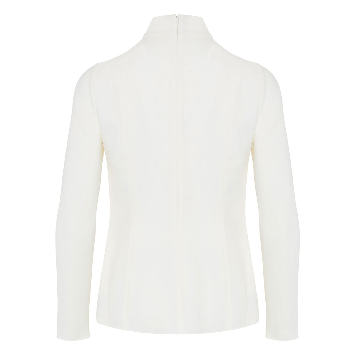 High-neck structured blouse