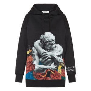 x Undercover oversized printed hoodie