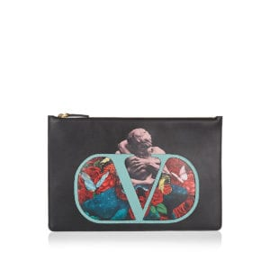 x Undercover Vlogo printed pouch