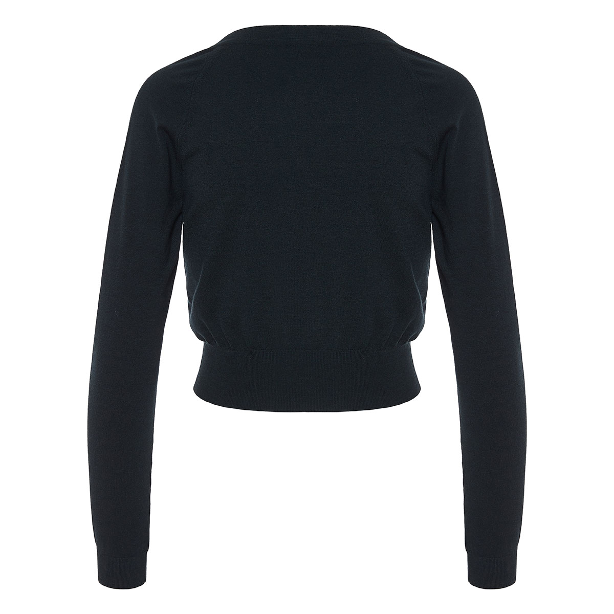 Deep V cropped sweater