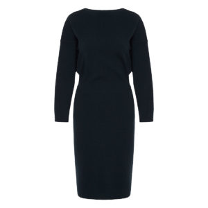 V-back knitted midi dress