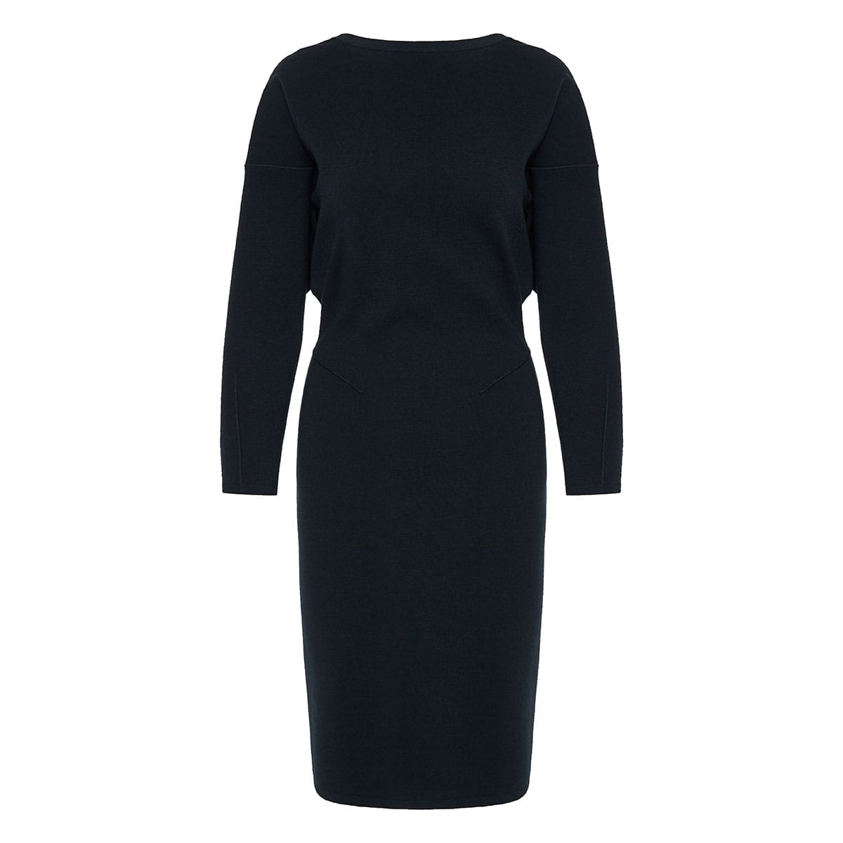 V-back knitted midi dress