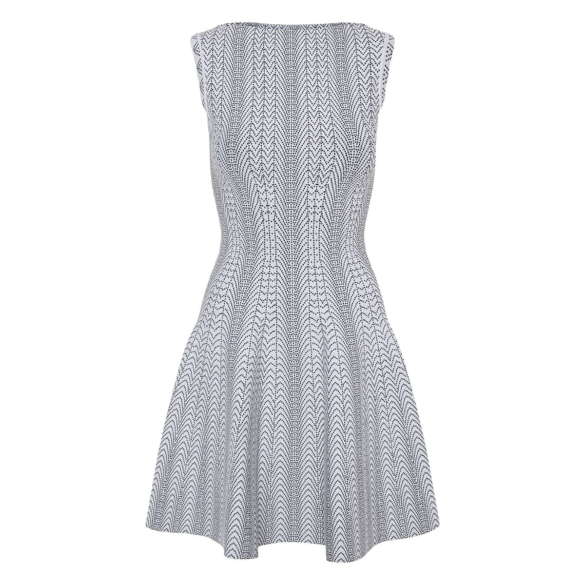 Fit-and-flare jacquard-knit dress