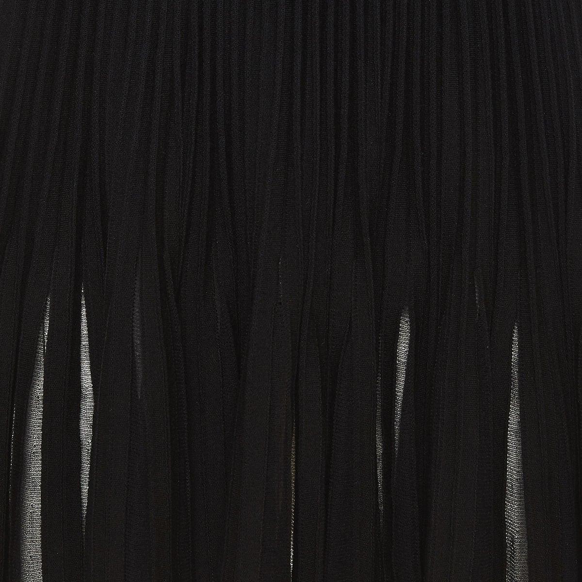 Wool-knit pleated mini dress