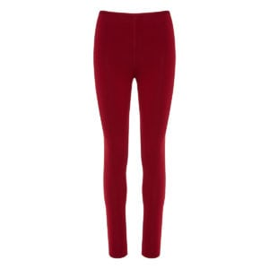 High-waist wool leggings