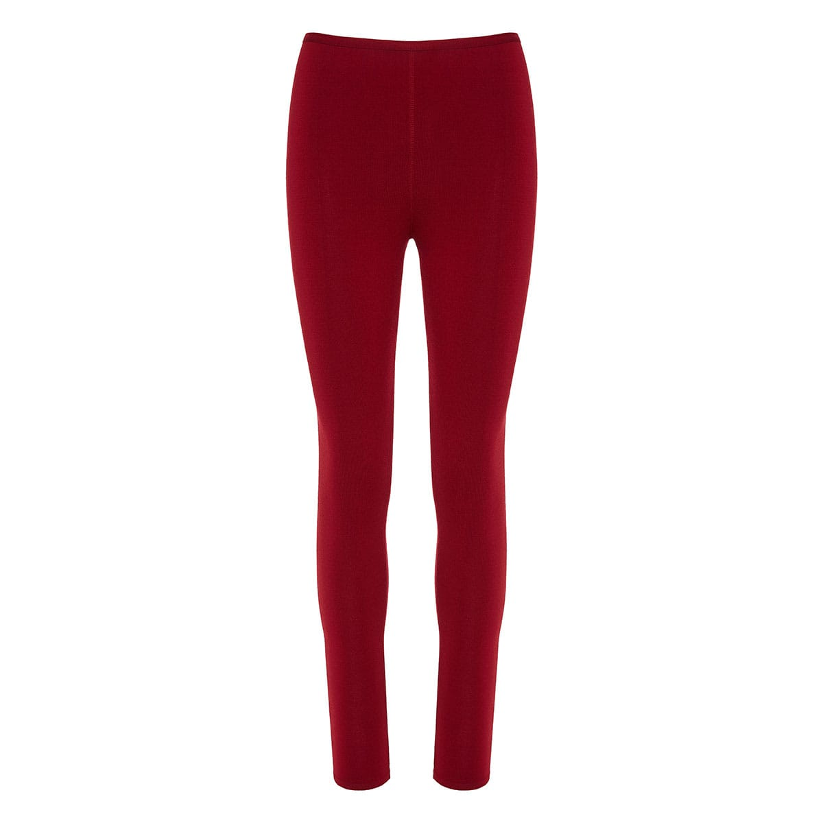 High-waist wool leggings