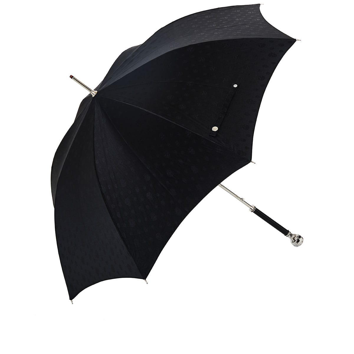 Skull-handle jacquard umbrella