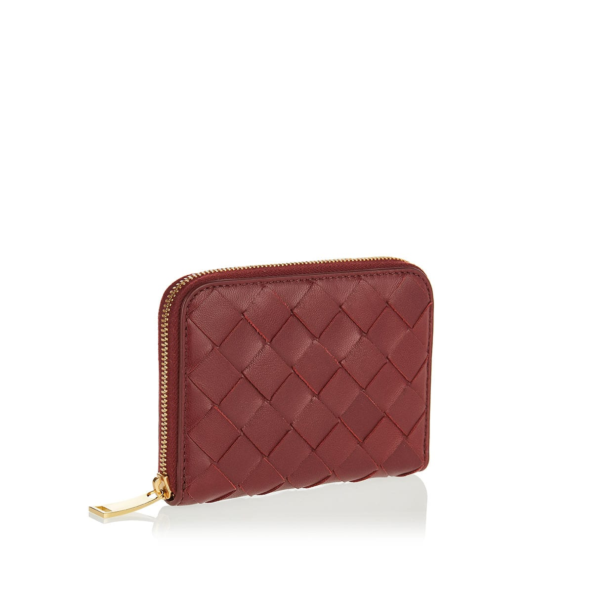 Intrecciato small leather wallet