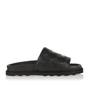 Maxi Intreccio leather slides