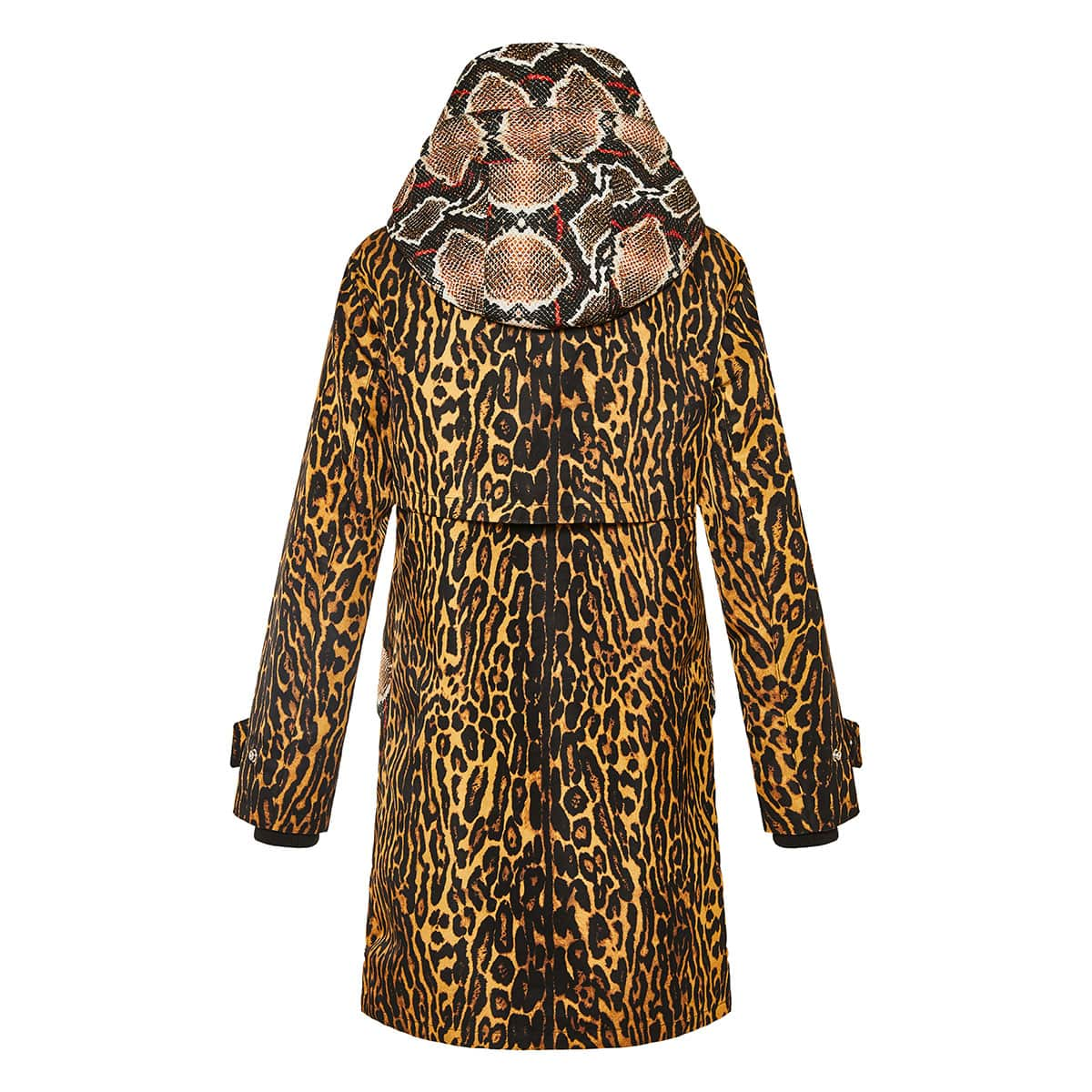 Animal printed parka jacket