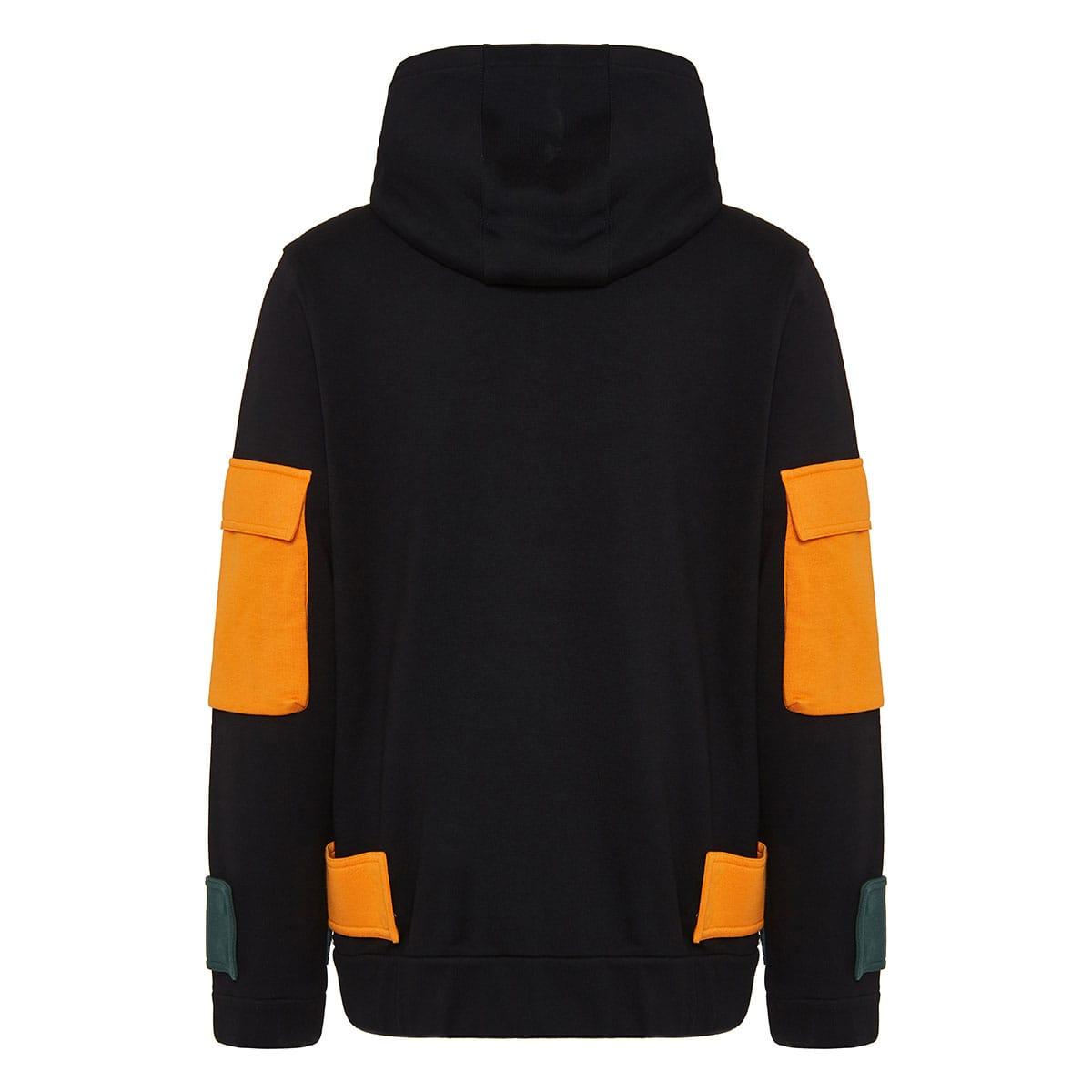 Color-block logo hoodie