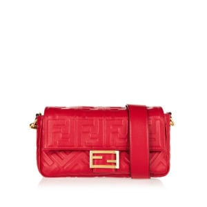 FF embossed baguette bag
