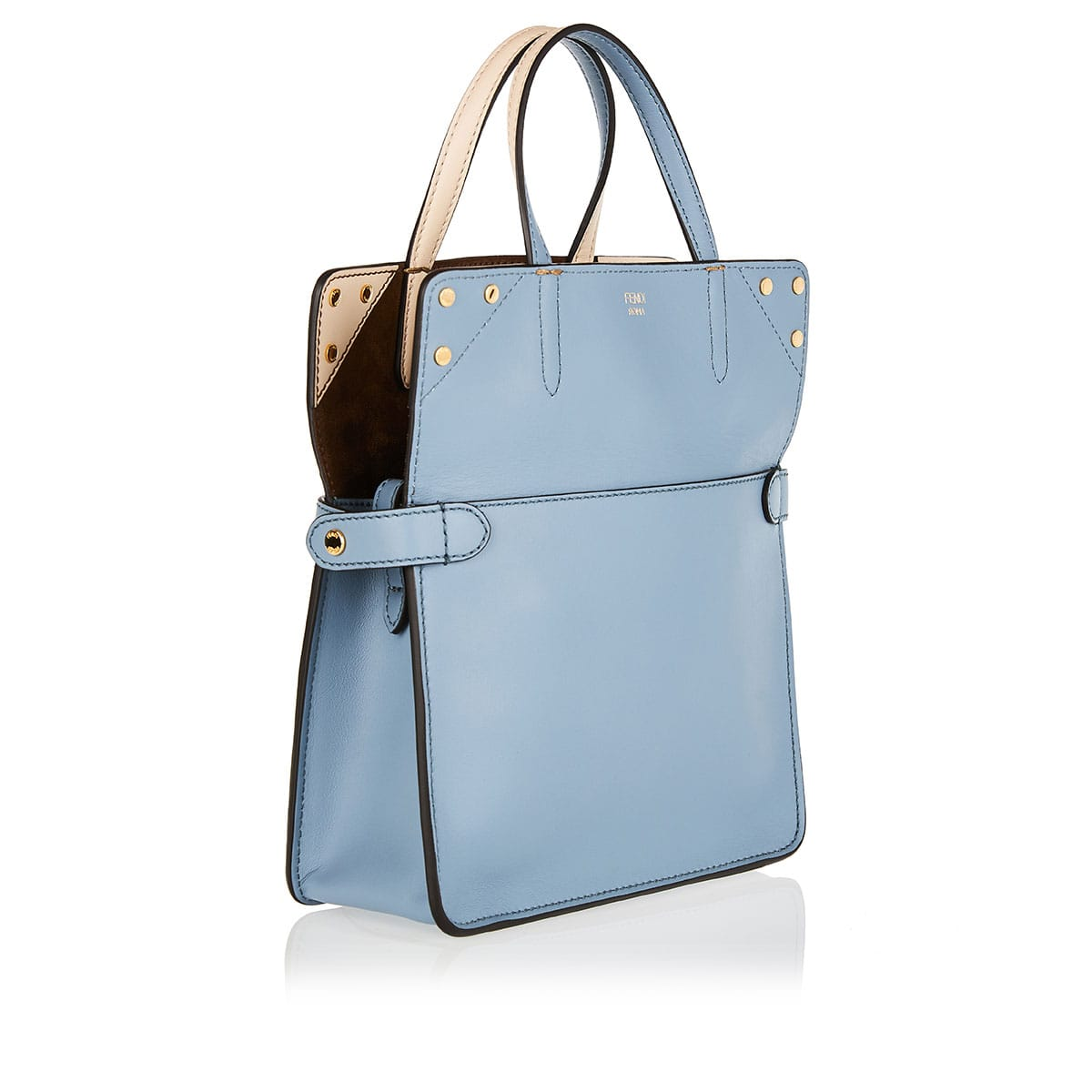 Small Flip leather and suede bag