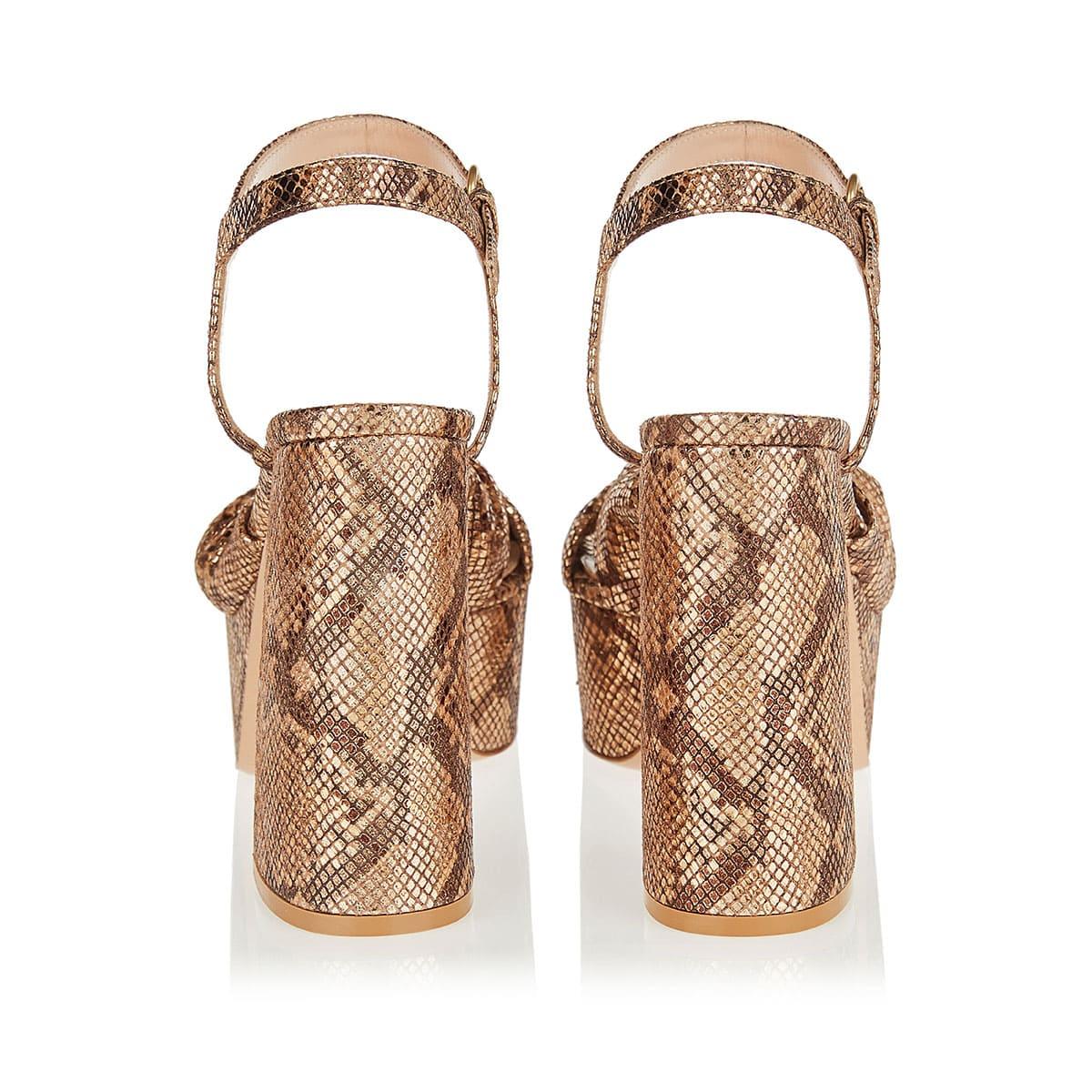 Donna 70 snake-effect platform sandals