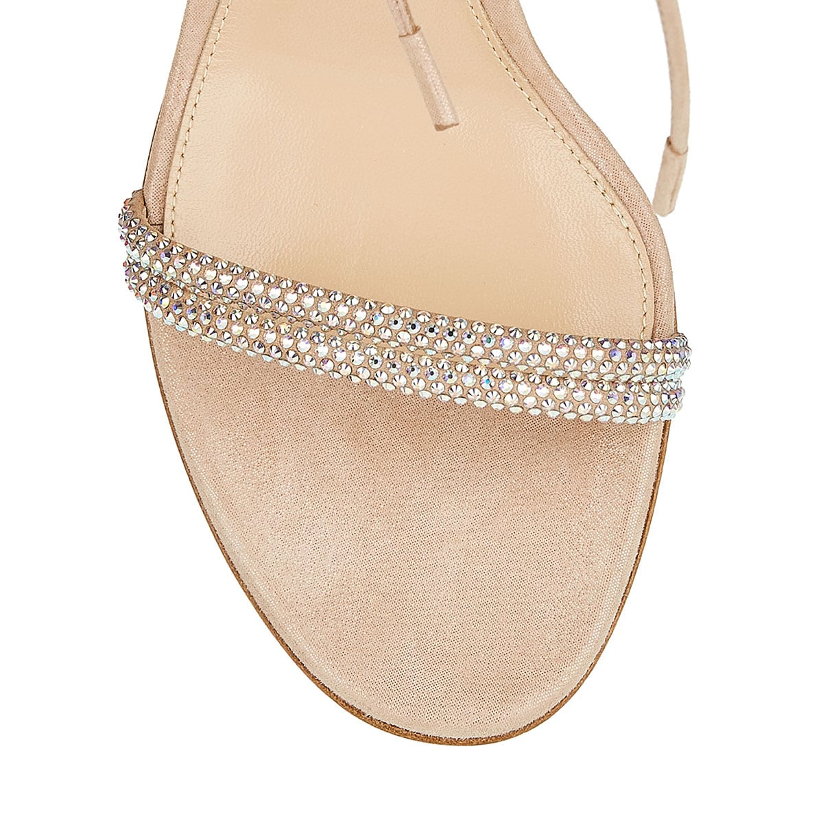 85 crystal-embellished suede sandals