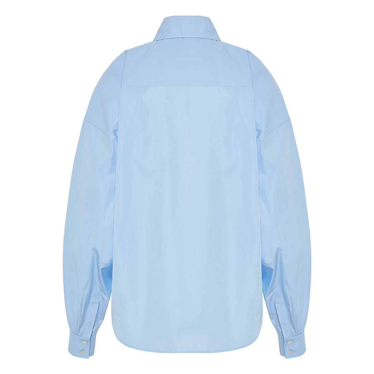Puff-sleeved oversized shirt