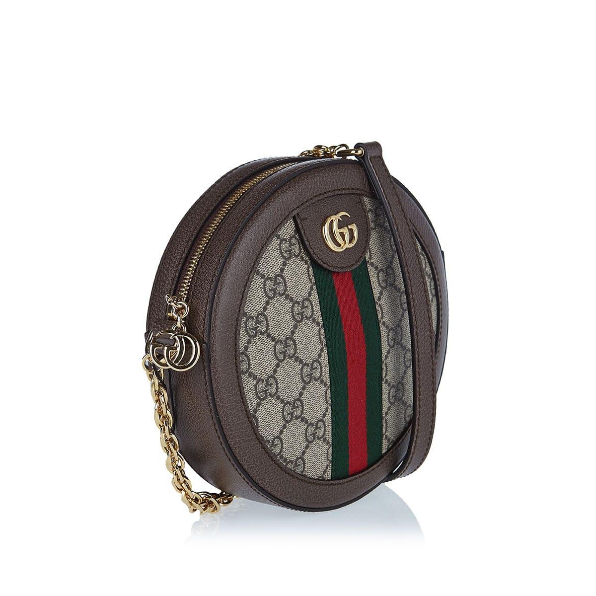 Ophidia GG mini round bag