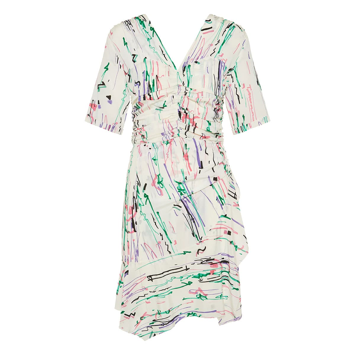 Arodie printed ruffled mini dress