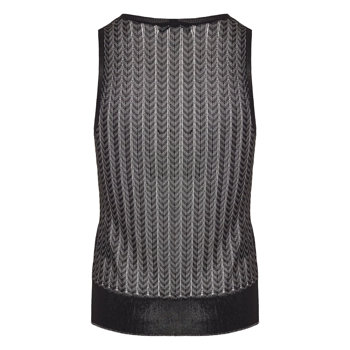 Rower lurex knitted top