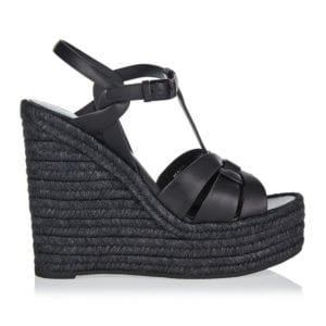 Tribute leather espadrille wedges
