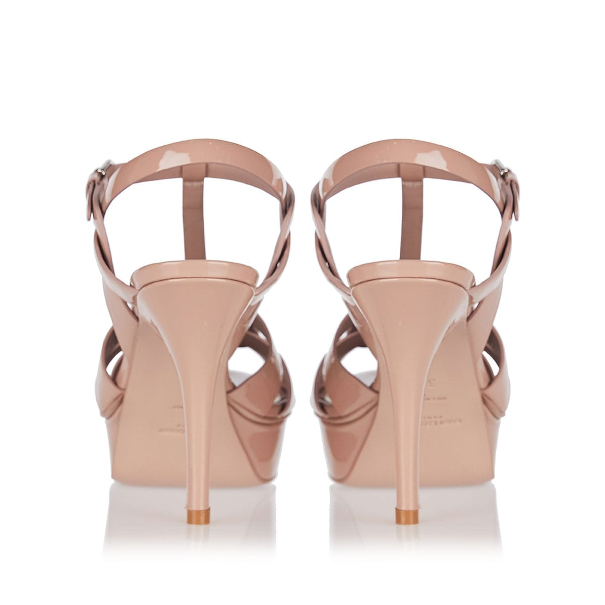 Tribute patent leather sandals