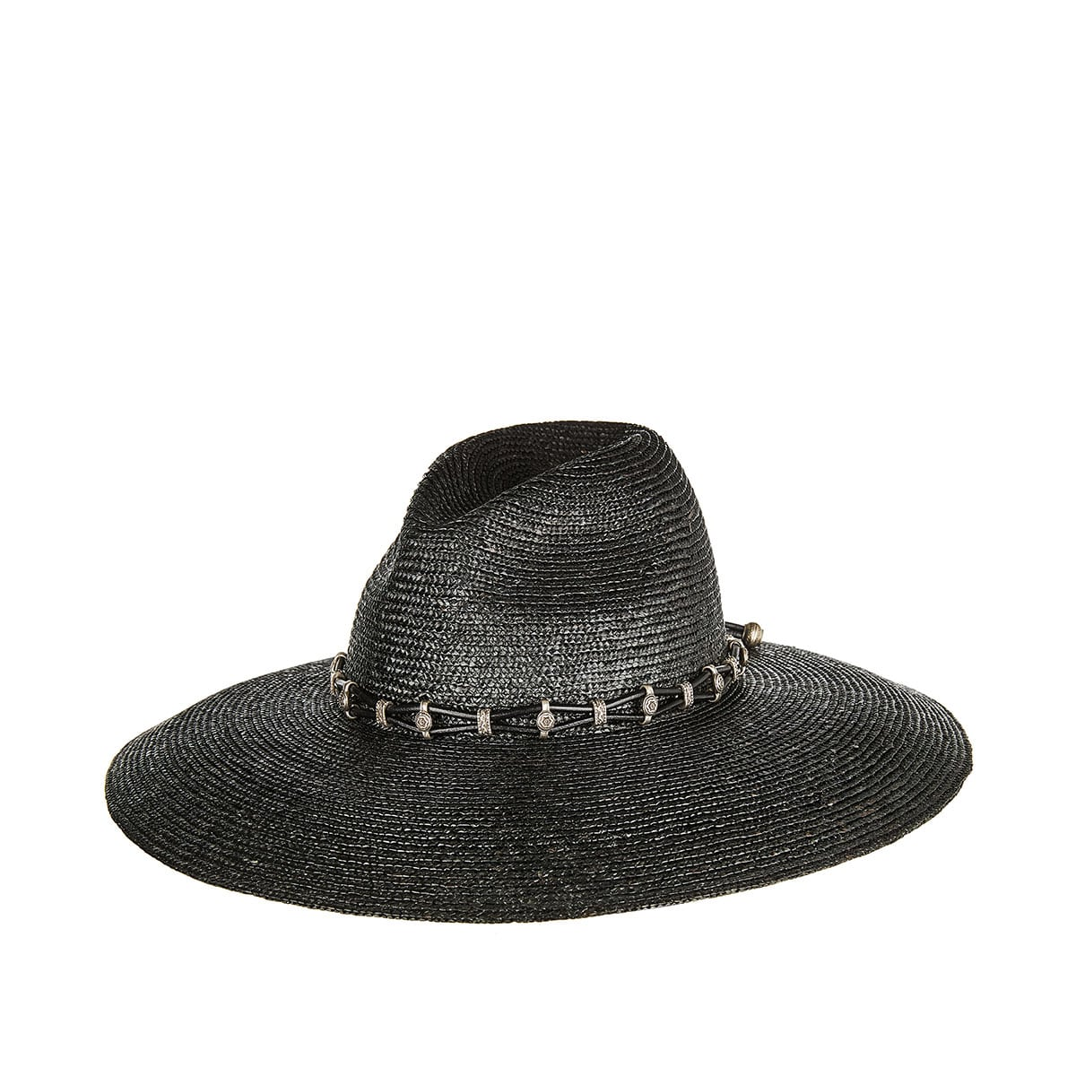 Embellished straw Western hat
