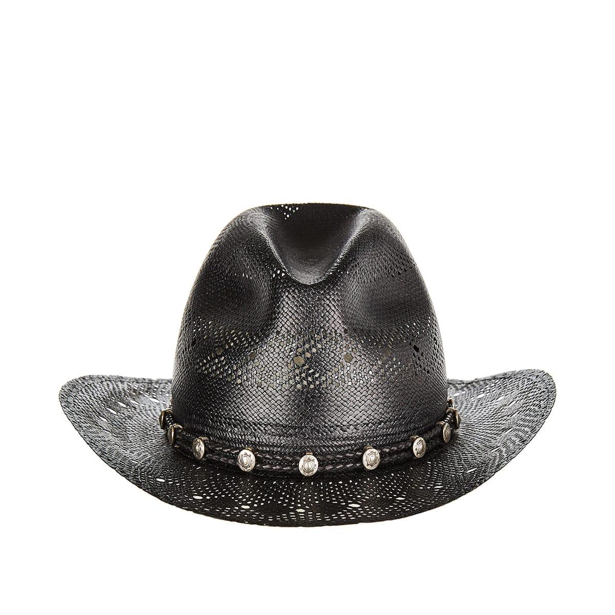 Embellished straw Western hat