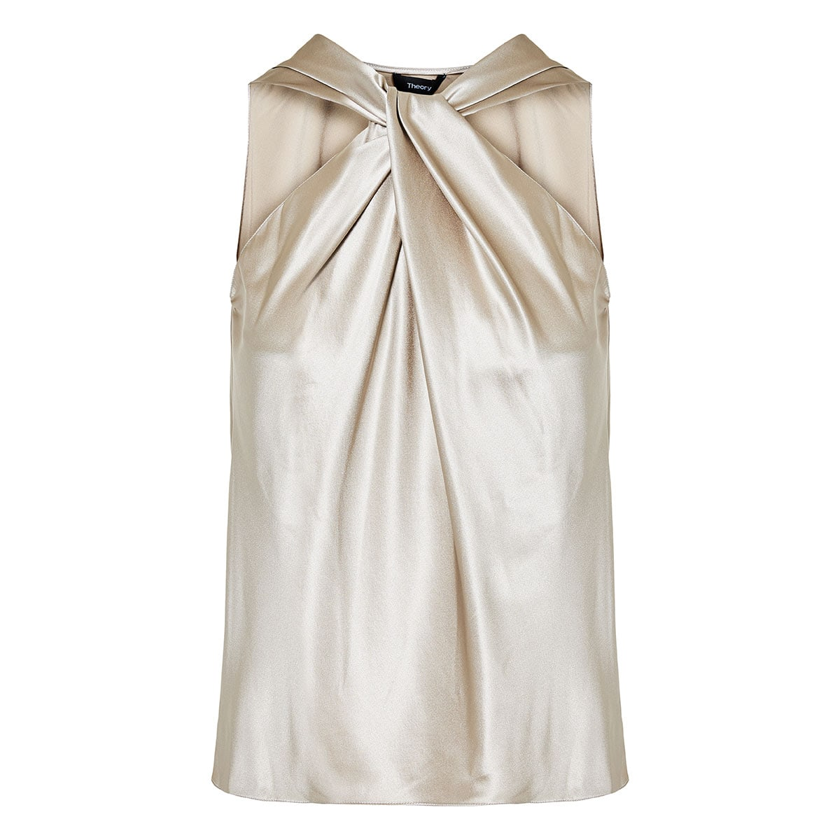 Knotted satin top