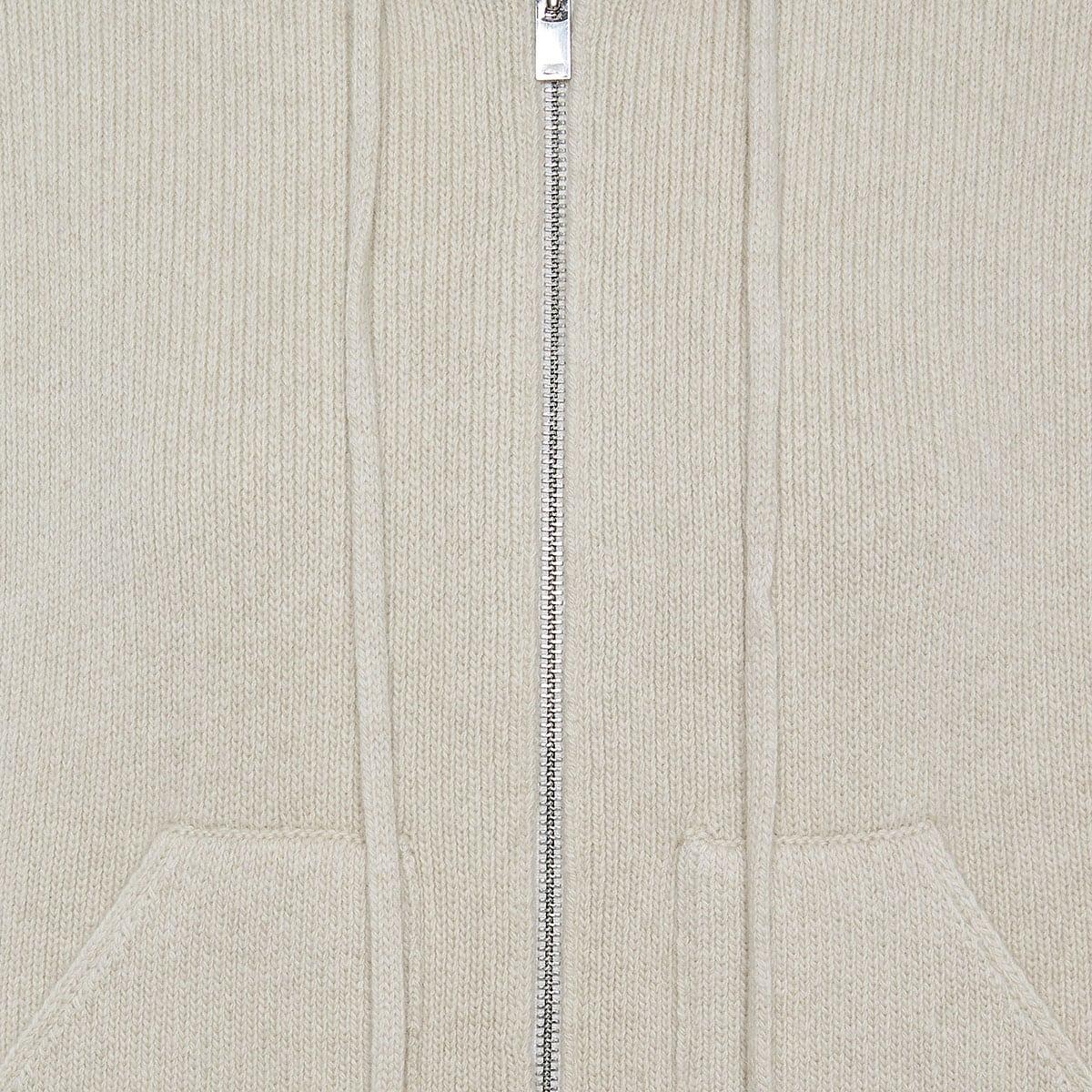 Oversized knitted zip hoodie