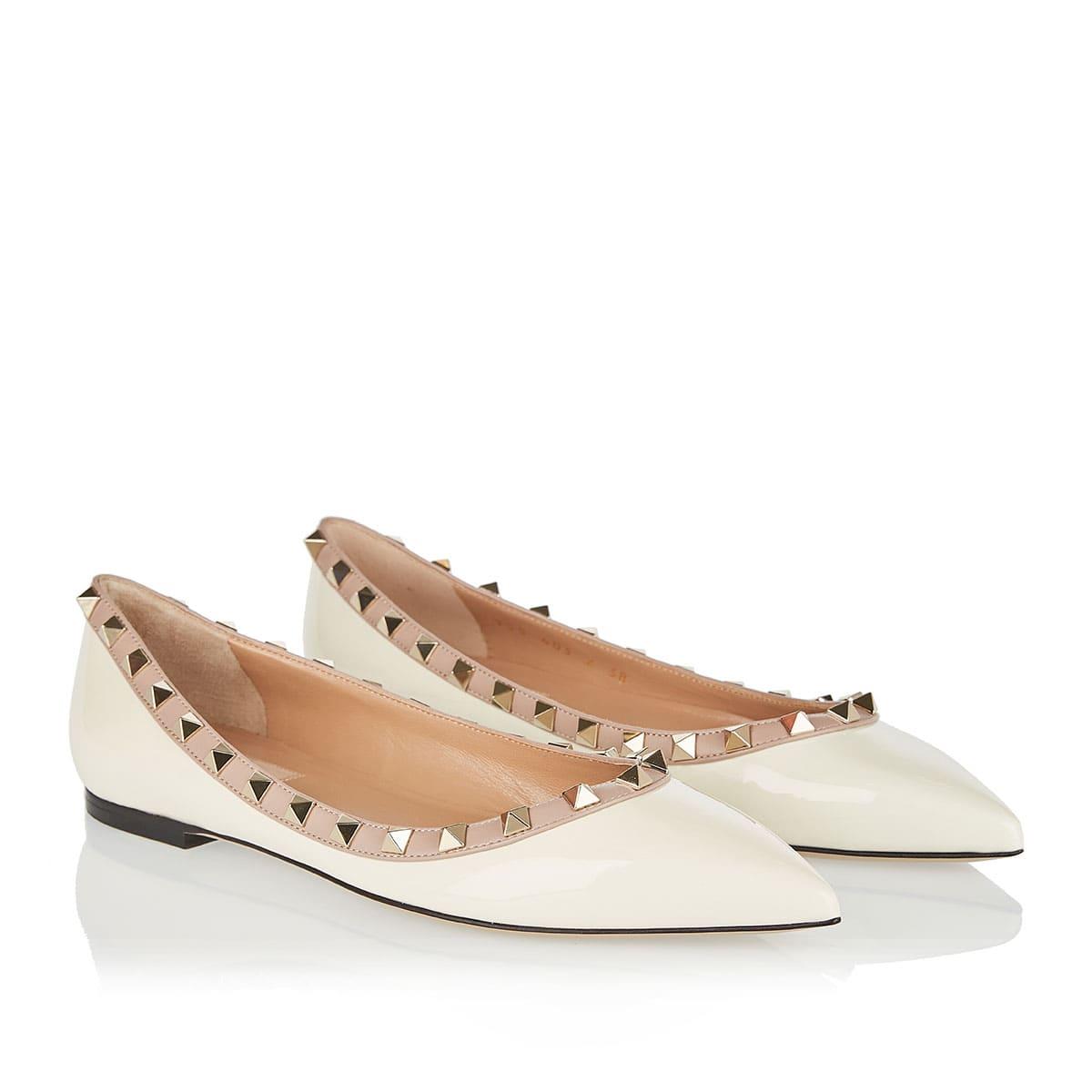Rockstud flat shoes