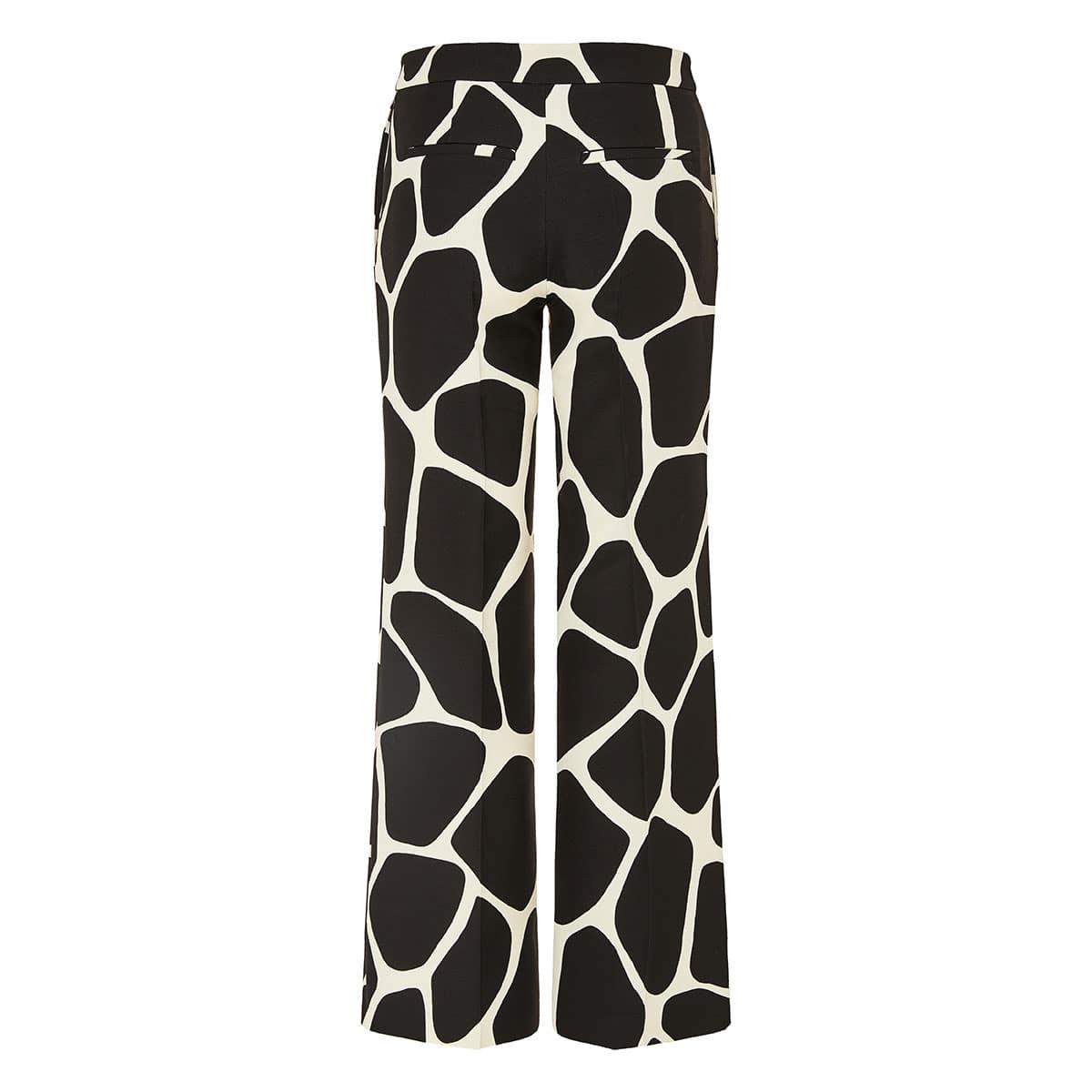 Giraffe printed wide-leg trousers