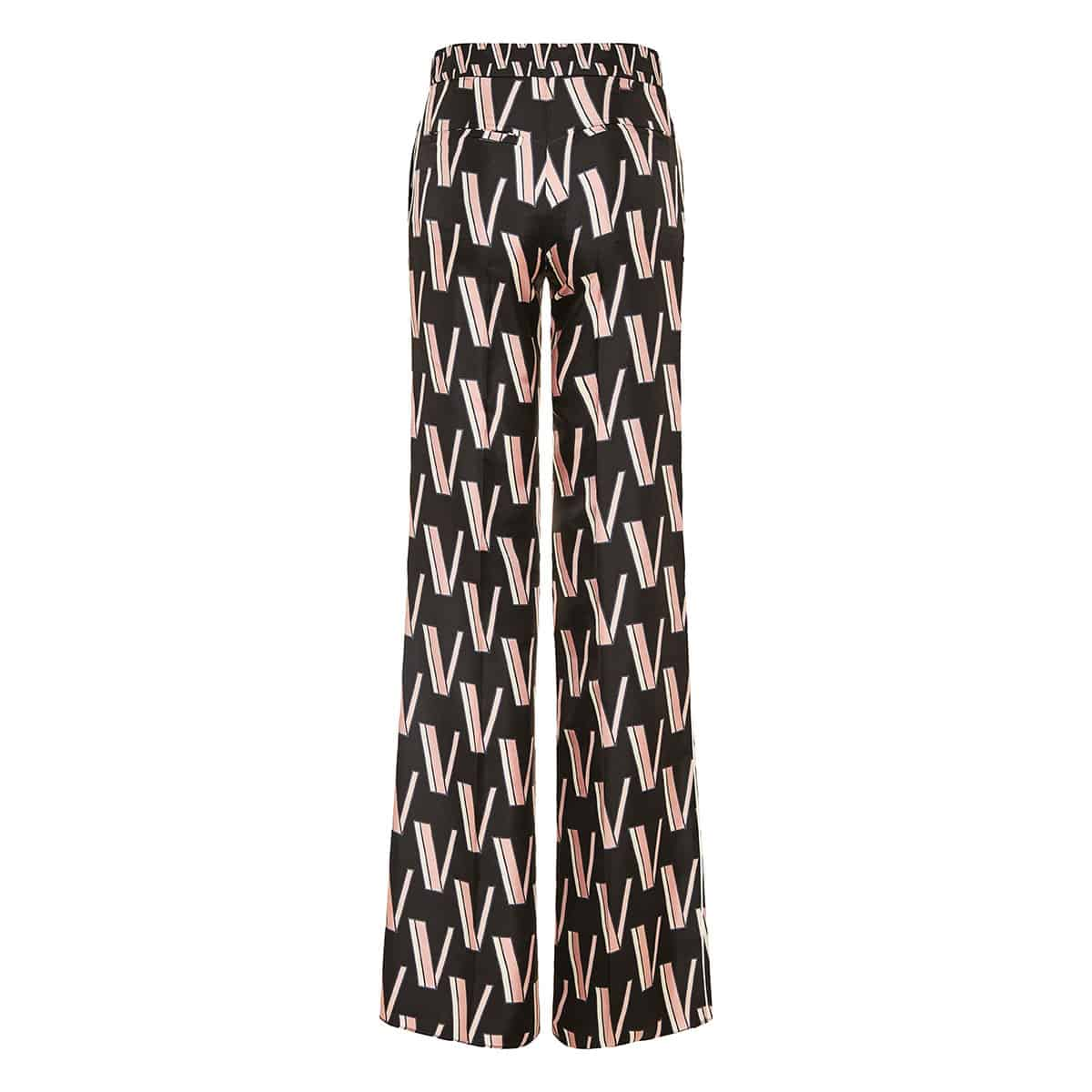 V-printed flared trousers