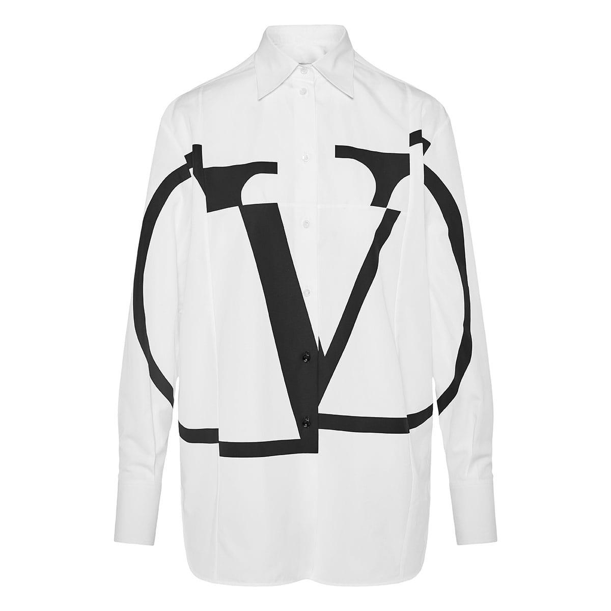 V-logo oversized shirt