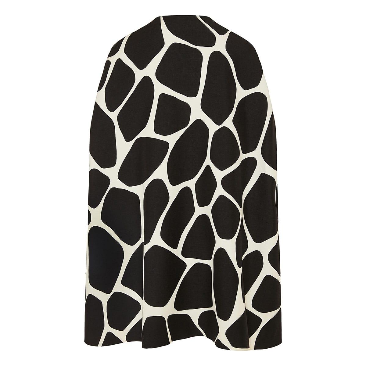 Giraffe printed cape