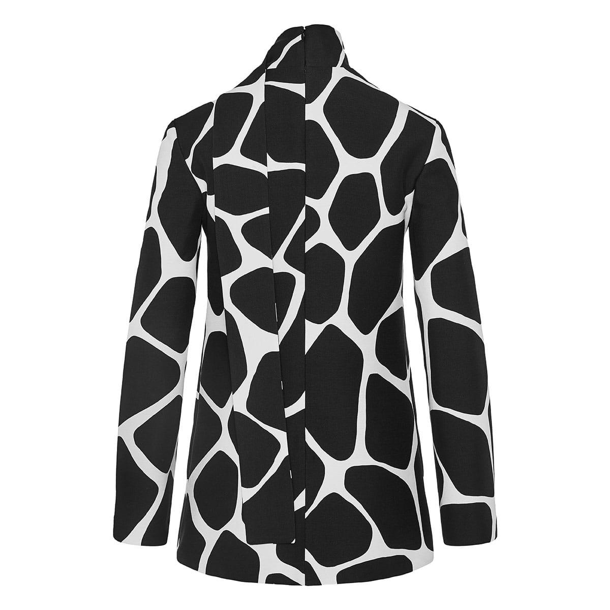 Giraffe printed bow-tie blouse