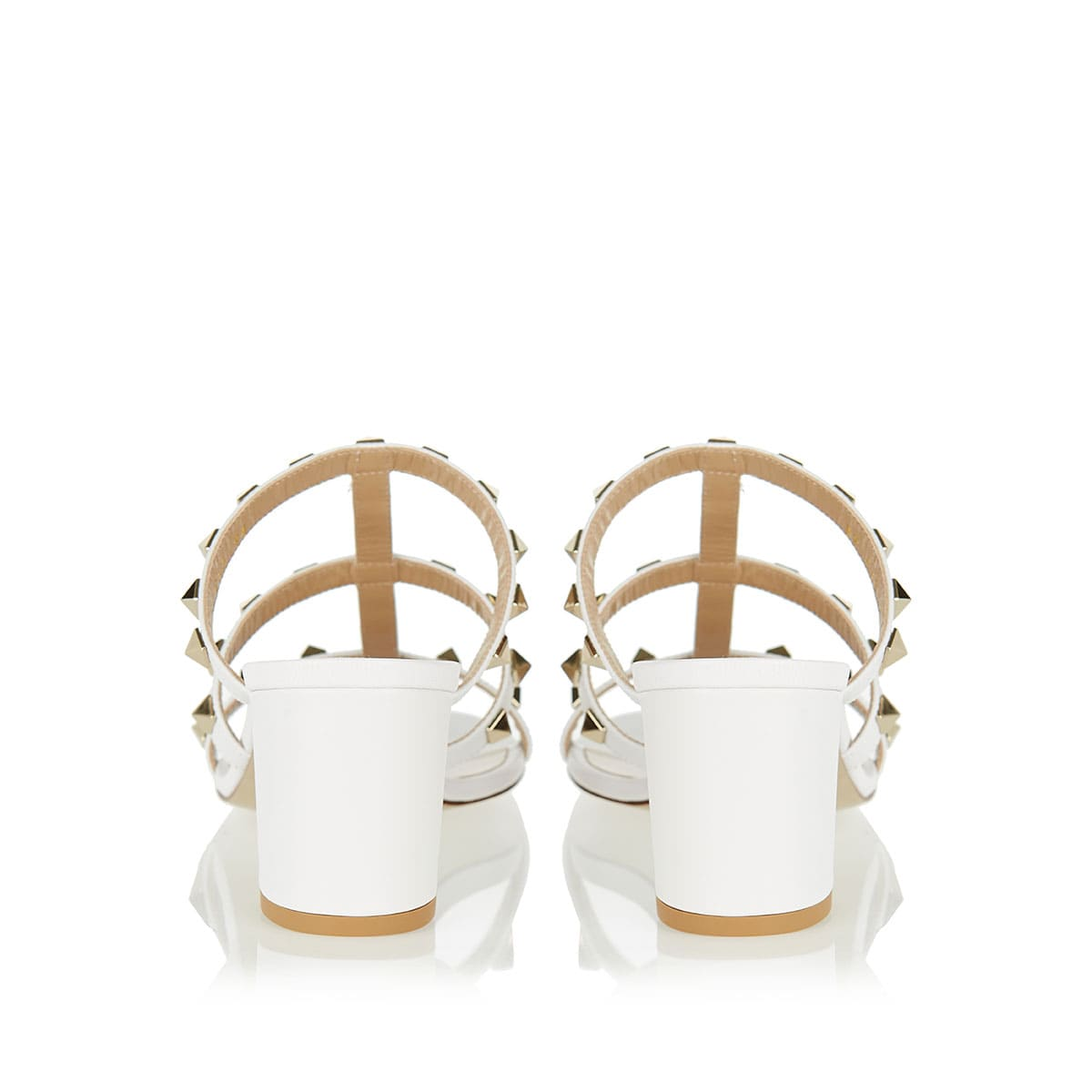 Rockstud leather mules
