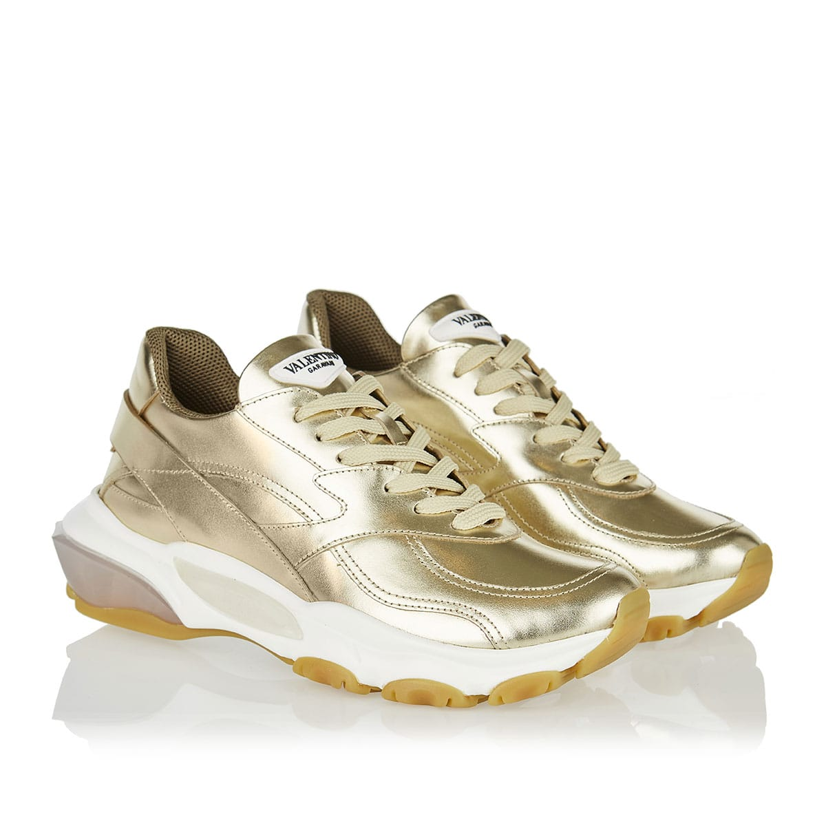 Bounce metallic leather sneakers