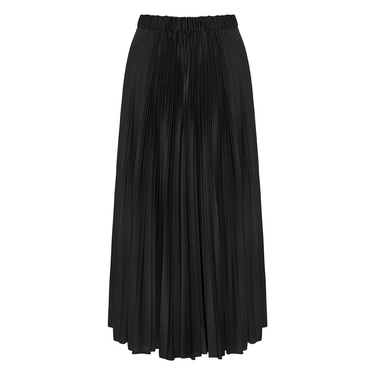 V-logo pleated midi skirt