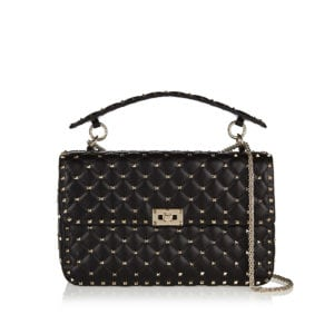Rockstud Spike leather chain bag