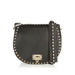 Rockstud leather cross-body bag