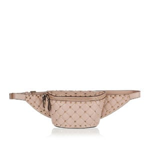 Rockstud leather belt bag